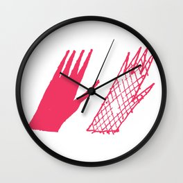 Hand and glove Wall Clock