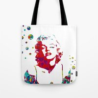 monroe Tote Bags featuring MONROE by Bianca Lopomo