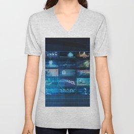 Digital Entertainment and Streaming Broadcast Technology Art Unisex V-Neck