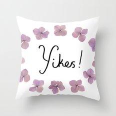 Yikes! Throw Pillow