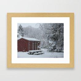 Winter shed Framed Art Print