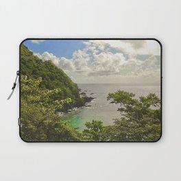 Mountain view of Caribbean Sea Laptop Sleeve