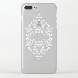 'Love' -  Heart of lace in black and white Clear iPhone Case