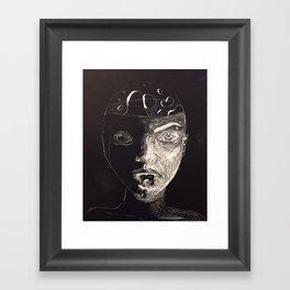 Lava Lamp Girl Framed Art Print