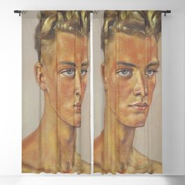Portrait of a Young Man by Wolfgang Willrich Blackout Curtain