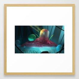 Pink islet Framed Art Print