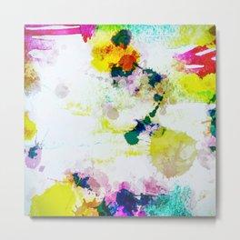Abstract Paint Splatter Art Metal Print