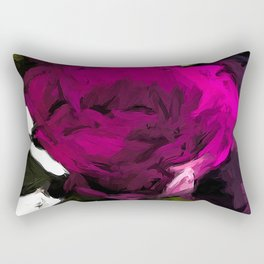 Vase of Roses with Shadows 3 Rectangular Pillow