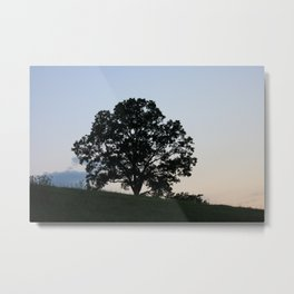 Branched Silhouette Metal Print