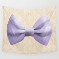 bow Wall Tapestries featuring Bow by Naomi Shingler