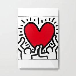 Keith Ha ring Poster Wall Art Office Interior Heart Home Metal Print