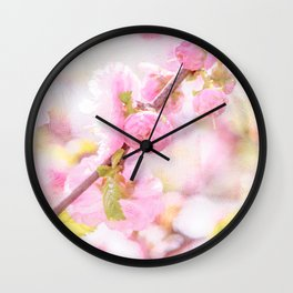 Pink sakura flowers - Japanese cherry blossom Wall Clock