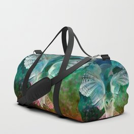 """Owl flight and spring night"" Duffle Bag"