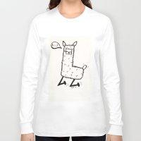 llama Long Sleeve T-shirts featuring llama by justine