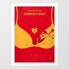 No698 My Jennifers body minimal movie poster Art Print