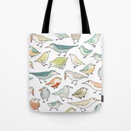 birds outside my window Tote Bag