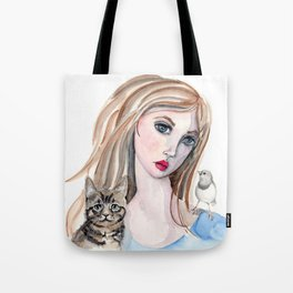 Girl and Friends Tote Bag