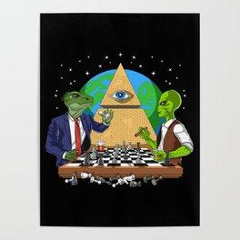 Alien Illuminati Conspiracy Poster