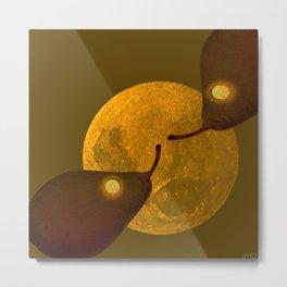 les mots d'amour sous la lune   (The words of love under the moon) Metal Print