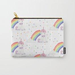 Kawaii Unicorn + Rainbow Carry-All Pouch