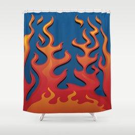 Classic Hot Rod Fire Flames Shower Curtain