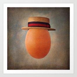 Vintage Egg in Ponte Rialto Boater Art Print