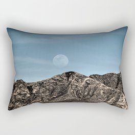 Moon over the Franklin Mountains Rectangular Pillow