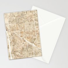 Tucson Arizona watercolor map Stationery Cards