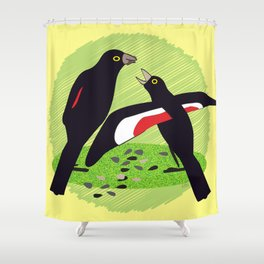 Tumbling Song Shower Curtain