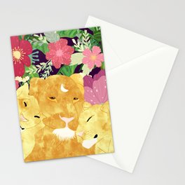 A Sincere Promise I Made To Myself, To Be Your Lioness When Things Are Messed #painting Stationery Cards