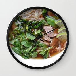 Pho bowl Wall Clock