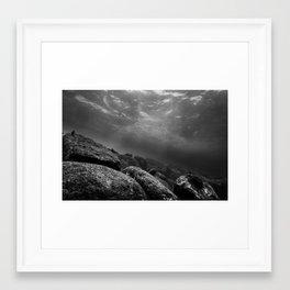 Rocks Underwater Framed Art Print