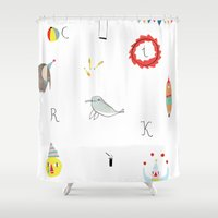 circus Shower Curtains featuring circus by agata krolak