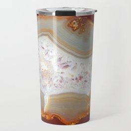 agate, quartz brown gold beige Travel Mug