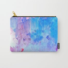 Abstract Candy Glitch - Pink, Blue and Ultra violet #abstractart #glitch Carry-All Pouch
