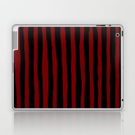 Black and Red Stripes Laptop & iPad Skin