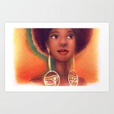Ra Eyes - Queen Art Print