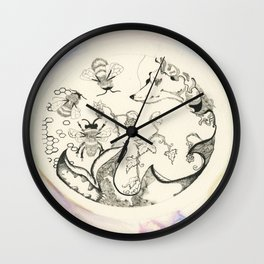 Circle of Objects And  Subjects; Round One Series Wall Clock