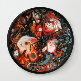 Dirty Acrylic Paint Pour 22, Fluid Art Reproduction Wall Clock