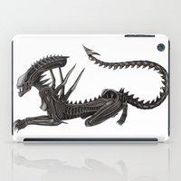 xenomorph iPad Cases featuring Xenomorph Warrior Babe by Aisha Diandra