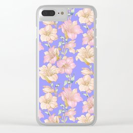 tropical pastels Clear iPhone Case
