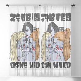 Zombies Gone Wild Sheer Curtain