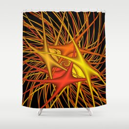 chaotic colors -4- Shower Curtain
