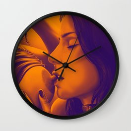 That First taste of Heaven (Sepia) Wall Clock