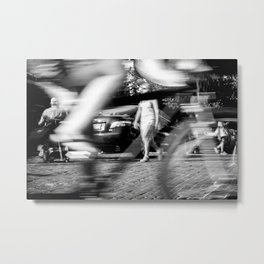Cyclist in Seattle Metal Print