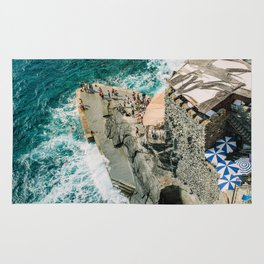 "Travel photography print ""Rocky Beach"" photo art made in Italy. Art Print Rug"