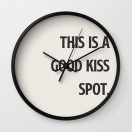 Good Kiss Spot. Wall Clock