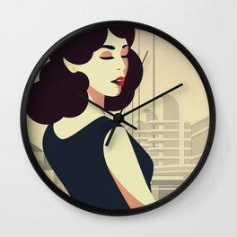 Girl Retro Style 13 Wall Clock