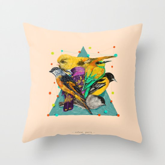 Colour Party Throw Pillow