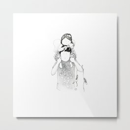Love carrier dad | Ink drawing by asillustrations Metal Print